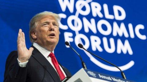 Borse: Davos, impeachment Trump e Atlantia sotto i riflettori