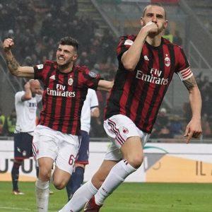 Il Milan soffre ma Bonucci gli regala la vittoria. Per la Roma è crisi nera