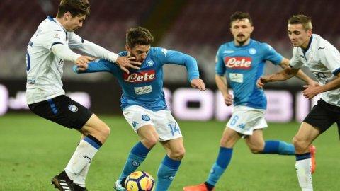 Napoli contro la bestia nera Atalanta e Milan a Cagliari