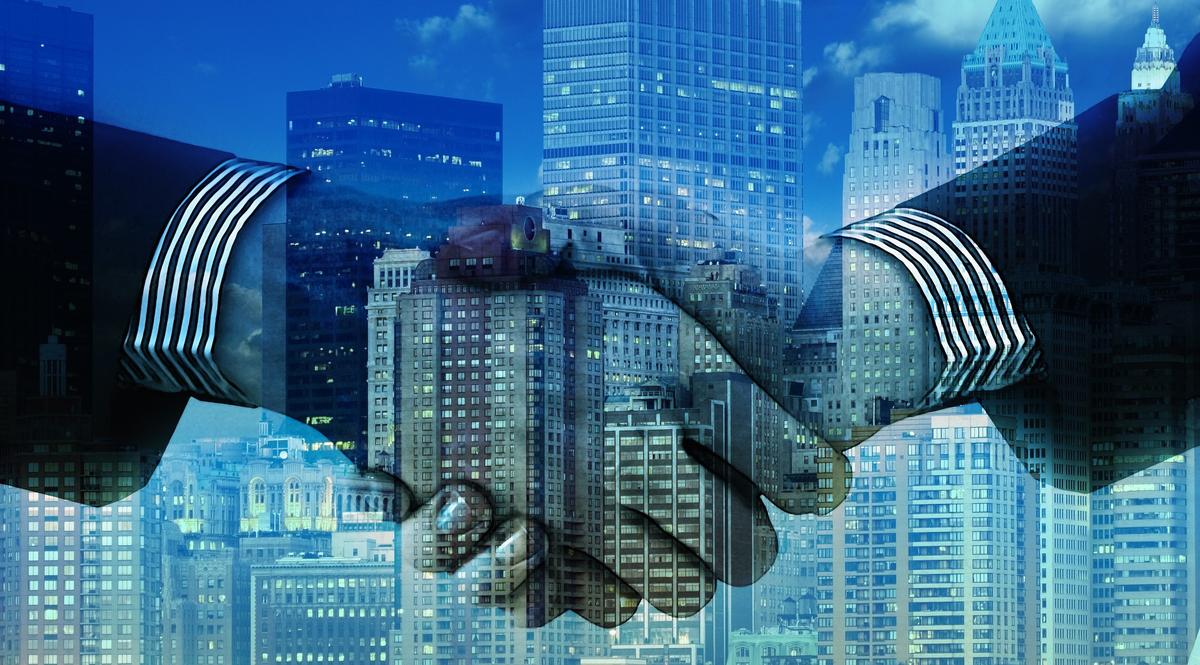 rappresentazione di aziende e fusioni con regole antitrust