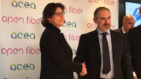 Open Fiber e Acea lanciano il piano per la fibra ottica a Roma