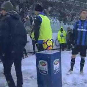 Juve-Atalanta, rinviata per neve. Ma mercoledì si affronteranno in Coppa Italia