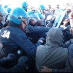 Proteste No Tap e interventi della Polizia