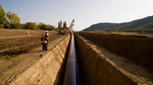 La posa dei tubi del gasdotto Tap in Grecia
