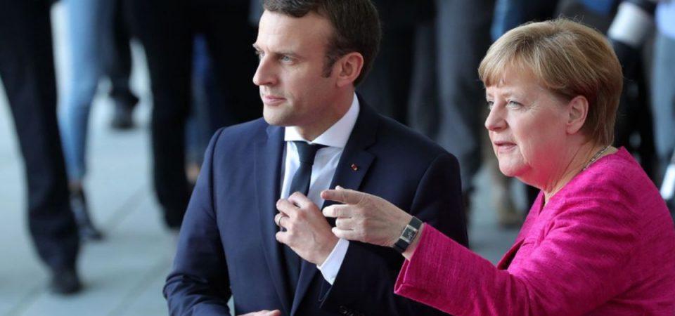"""Macron e Merkel: """"Voto italiano ha scosso l'Europa"""""""