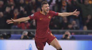 Edin Dzeko della AS Roma