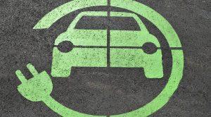 Simbolo della ricarica dell'auto elettrica