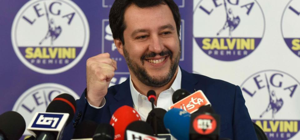 """Salvini: """"Tocca a noi governare, niente coalizioni strane"""""""