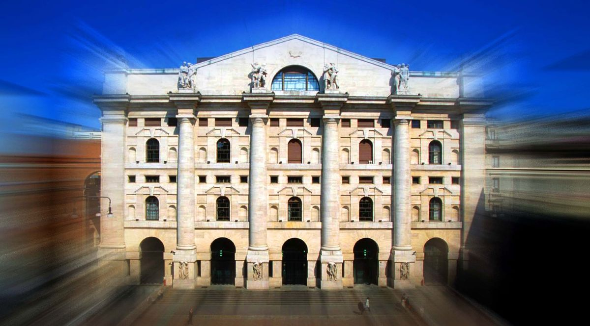 La Borsa di Milano a Piazza Affari