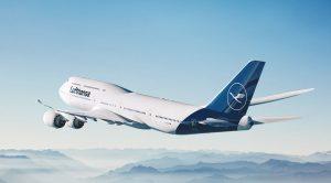 Lufthansa aereo in volo