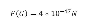 Valore numerico Forza Gravitazionale