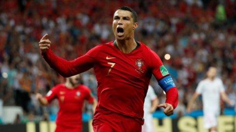 Mondiali Russia: tris Ronaldo, Spagna-Portogallo finisce 3-3