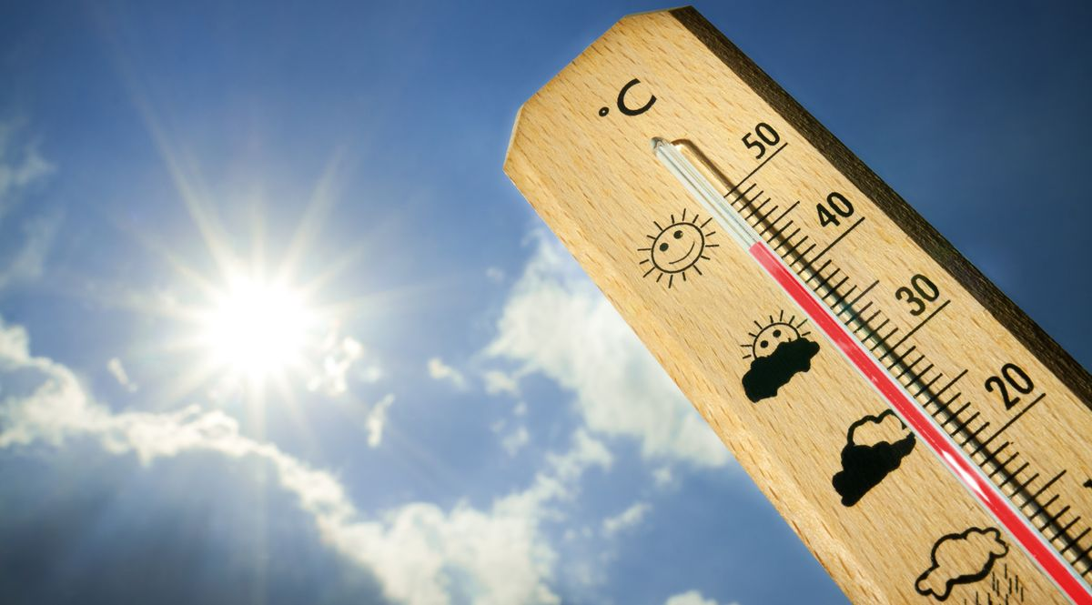 Meteo, caldo, termometro, estate