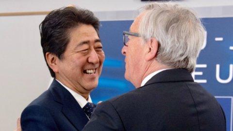"""Accordo di libero scambio Giappone-Ue: ecco cosa prevede il """"Jefta"""""""