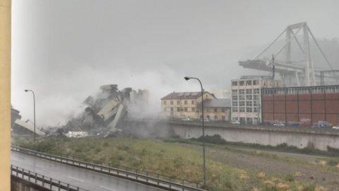 Genova, crolla ponte su A10: travolte abitazioni, decine di vittime