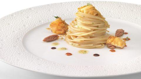 Spaghettini alla colatura di alici e pesce bandiera: la ricetta di Gennarino Esposito