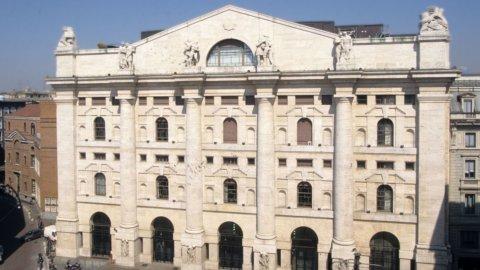 Borsa di Milano a Piazza degli Affari
