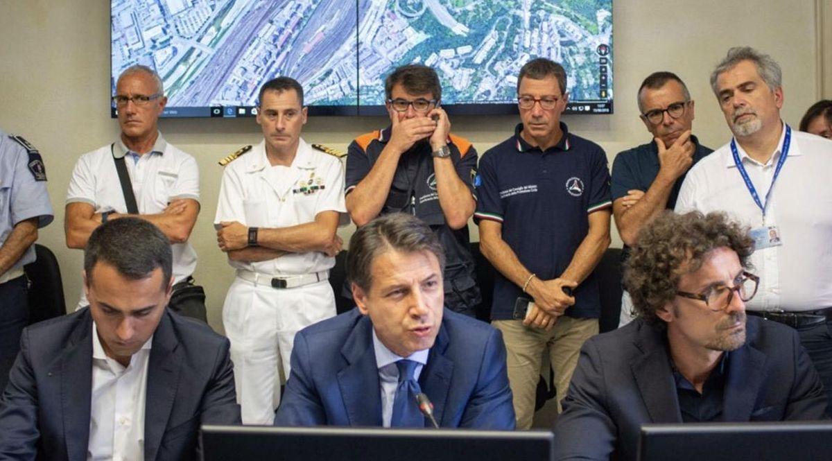 Conte e Di Maio a Genova