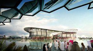 Il Lusail Iconic Stadium in Qatar