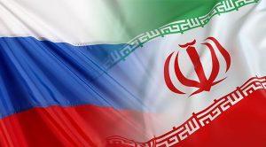 Le bandiere di Russia e Iran