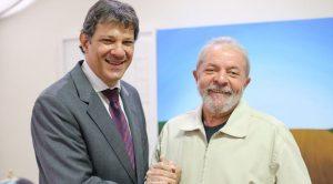Fernando Haddad con Lula