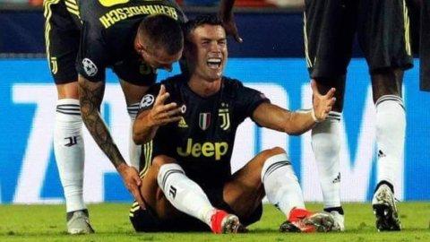 Champions: CR7 espulso ma la Juve espugna Valencia, Roma ko a Madrid