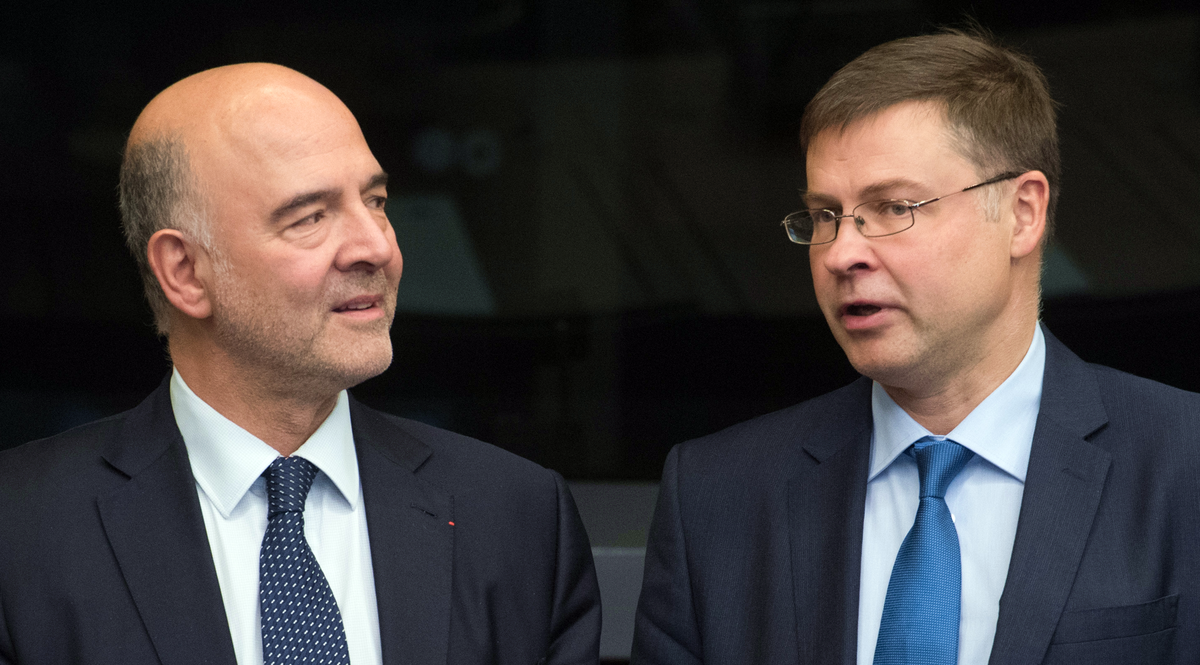 Pierre Moscovici e Valdis Dombrovskis