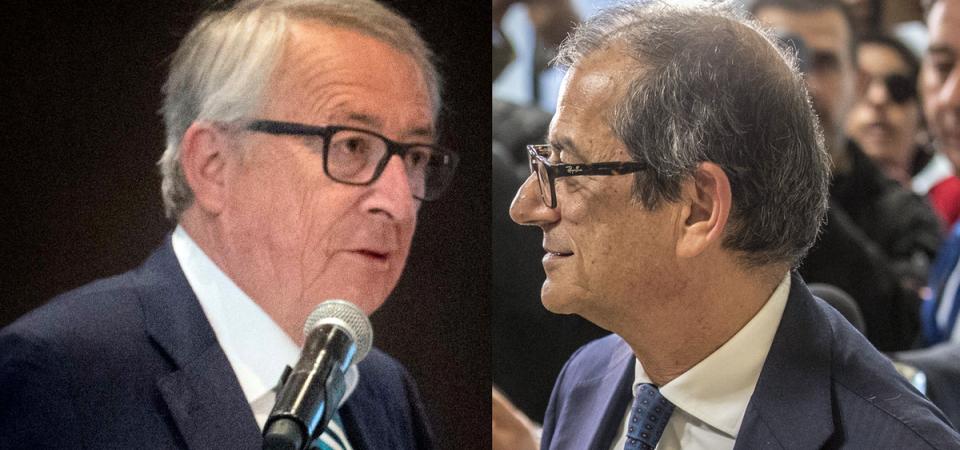 Duello Juncker-Tria e alta tensione su spread, banche e Borsa