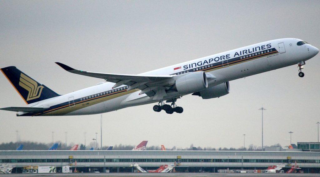 Un Airbus della Singapore Airlines