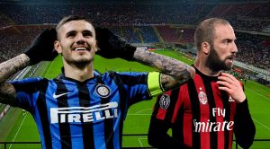 Inter (Icardi) vs Milan (Higuain)