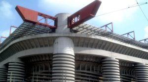 Lo stadio Giuseppe Meazza di Milano