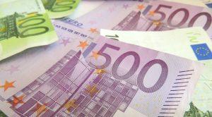 Banconote da 500 e 100 euro