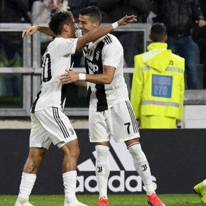 La Juve risponde alla manita dell'Inter e mantiene le distanze