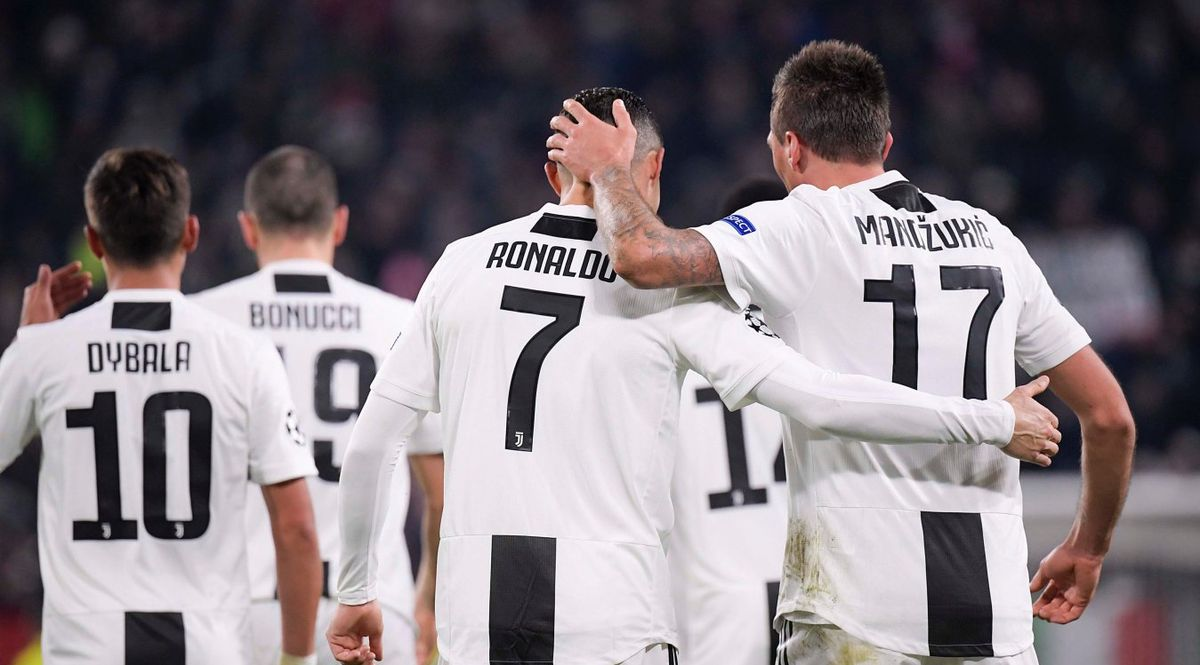 Cristiano Ronaldo e Mandzukic alla Juventus
