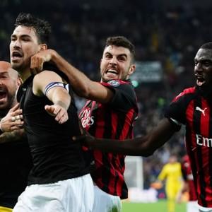 Il Milan beffa l'Udinese in zona Romagnoli che fa rima con zona Champions