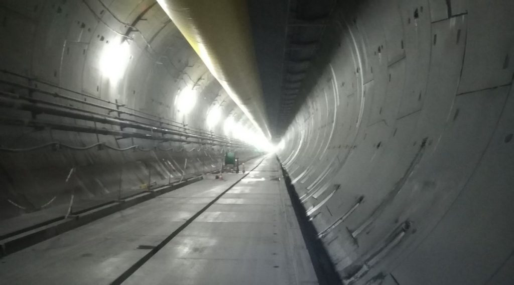 Il cantiere del tunnel di base del Moncenisio, per la TAV Torino-Lione