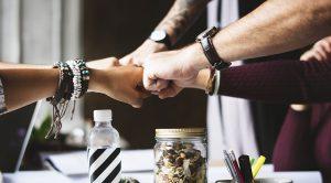 Team aziendale, aziende, lavoro, imprese