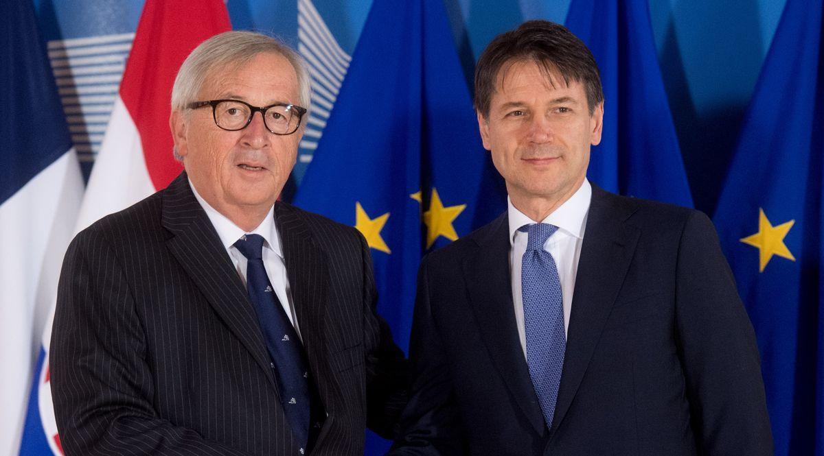Jean Claude Juncker e Giuseppe Conte