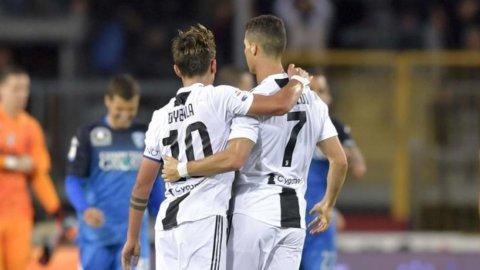 Juve: CR7-Dybala, la coppia si divide e Pirlo vuole Pogba