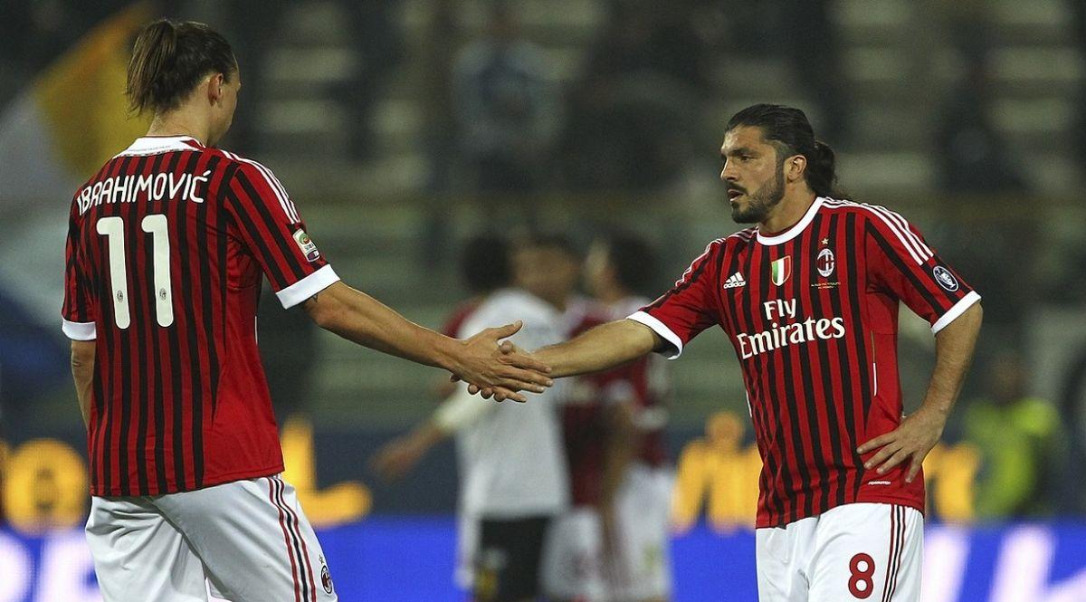 Ibrahimovic e Gattuso ai tempi del Milan