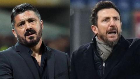 Milan e Roma: Gattuso e Di Francesco si giocano la panchina