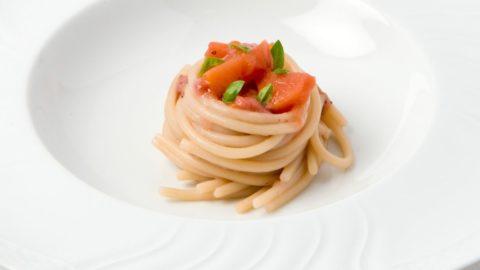La ricetta di Alberto Gipponi: pasta al pomodoro con pesche e fragole (che non gli era piaciuta)