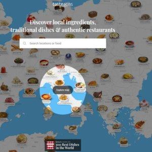 Ricette e gusto nel mondo: arriva l'atlante on line