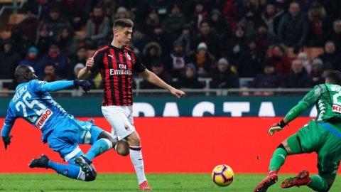 Milan, Piatek devastante: due gol e Napoli fuori dalla Coppa Italia