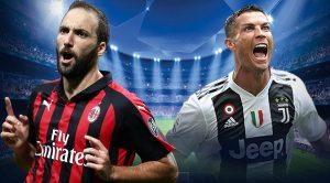 Higuain e Cristiano Ronaldo di Milan e Juve