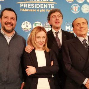 Elezioni, Abruzzo: netta vittoria del centrodestra, crollo M5S