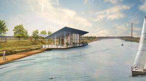 Rendering progetto per centrale Porto Tolle