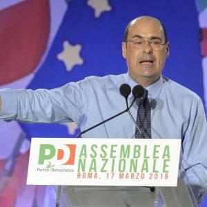 """Assemblea Pd, Zingaretti segretario: """"Cambiare tutto"""""""