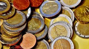 Soldi in contante, monete in euro