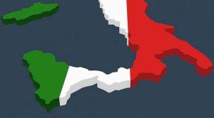 Cartina del Sud Italia anche detto Mezzogiorno
